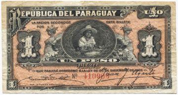 1 Peso 1907 (Mädchen mit Früchtekorb)