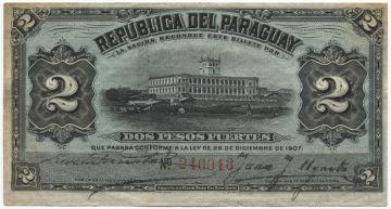 2 Pesos 1907 (Palacio de López)