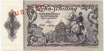 10 Schilling  1950 (Kunstreiter auf Lipizzaner) ``MUSTER´´