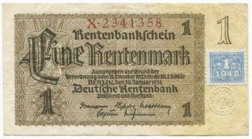 1 Deutsche Mark 1948 (Markenprovisorium)