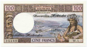 100 Francs 1973 (Südseemotive)