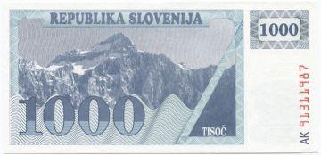 1000 Tolarjev 1991 (Triglav - Dreikopf)