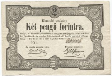 2 Pengö Forint 1849 (``Kossuth-Note´´)