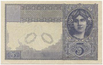 5 Mark 1917 (Mädchenportrait) Phasendruck