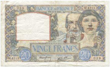 20 Francs 1941 (Wissenschaft & Arbeit)