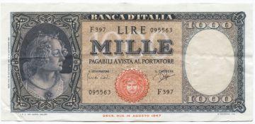 1000 Lire 1961 (Italia)