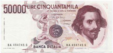 50000 Lire 1984 (Bernini)