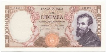 10000 Lire 1973 (Michelangelo)
