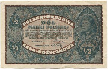 1/2 Marki Polskiej 1920 (Kosciuszko)