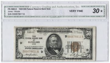 50 Dollars 1929 (Grant) National Currency FED - Notes