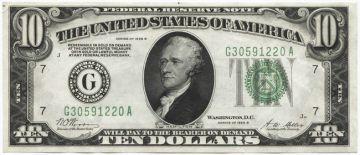 10 Dollars 1928B (Hamilton) 1