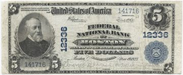 5 Dollars 1902 (Harrison) National Currency