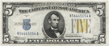 5 Dollars 1934A (Lincoln) Silver Certificate