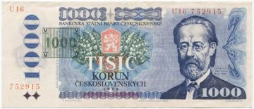 1000 Korun 1993 (Überdruckprovisorium)