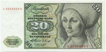 20 Deutsche Mark 1960 (Musikinstrumente)