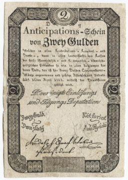 2 Gulden 1813 (Anticipations.Schein)