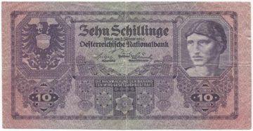 10 Schillinge 1925 (Männerportrait)