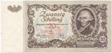 20 Schilling 1950 (Haydn) korrigierte Druckplatte