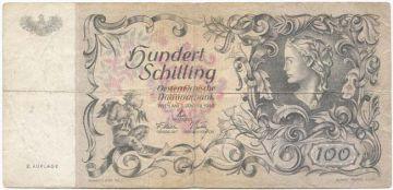 100 Schilling 1949 (``Donaunixe´´) II. Auflage