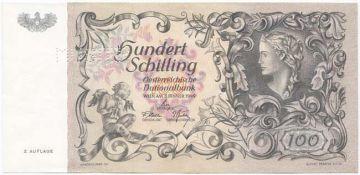 100 Schilling 1949 (``Donaunixe´´) II. Auflage -MUSTER-