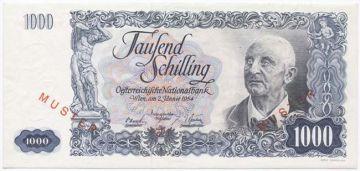 1000 Schilling 1954 (Bruckner) -MUSTER-