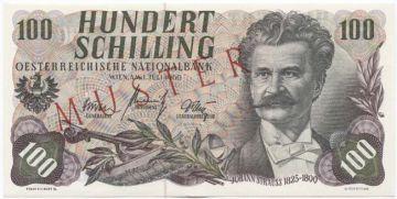 100 Schilling 1960 (Strauss) -MUSTER-