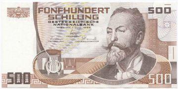 500 Schilling 1985 (Wagner)