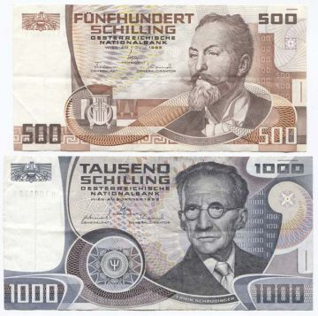 1500 Schilling (Set aus 2 Werten -gebraucht-)