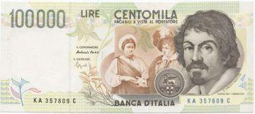 100000 Lire 1994 (Caravaggio)