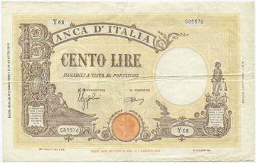 100 Lire 1944 (Allegorische Darstellungen)