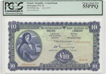 10 Pounds 1975 (Lady Hazel mit Harfe) 1
