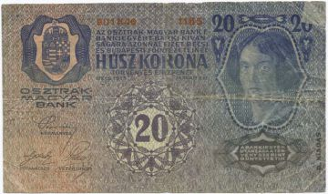 20 Kronen 1913 Fehldruck