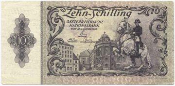 10 Schilling 1950 Fehldruck