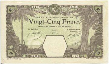 25 Francs 1926 (Elefantenköpfe)