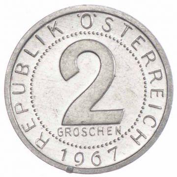 2 Groschen 1967 offene PP