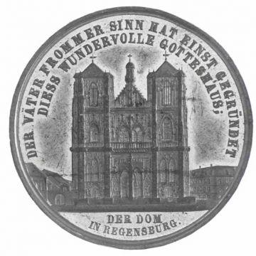 Zinnmedaille o.J. (1869) a.d. Ausbau der Domtürme