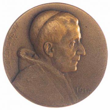 AE Medaille 1914 Papst Benedikt XV.