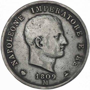 5 Lire 1809 M