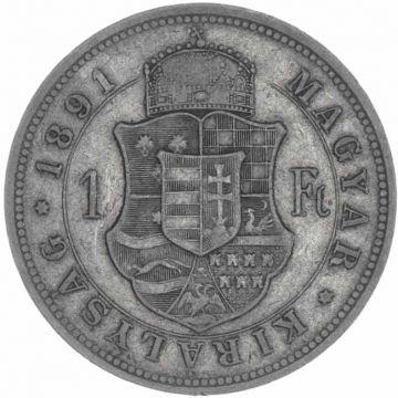 Forint 1891 KB mit Fiumewappen