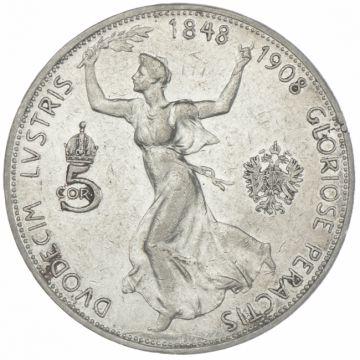 5 Kronen 1908 Regierungsjubiläum