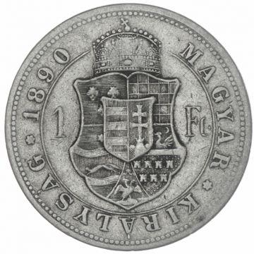 Forint 1890 KB mit Fiumewappen