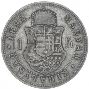 Forint 1892 KB mit Fiumewappen