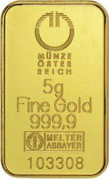 Münze Österreich Goldbarren 5 g - Kinegram