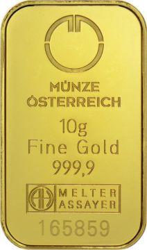Münze Österreich Goldbarren 10 g - Kinegram