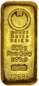 Münze Österreich Goldbarren 500 g