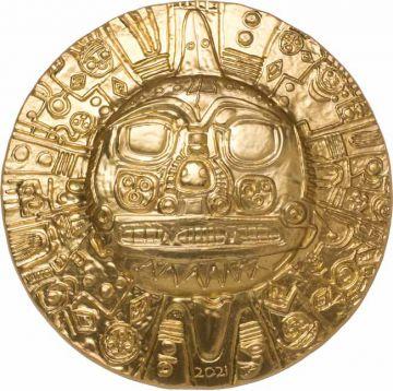 Inka Sonnengott 1 Unze Silber vergoldet