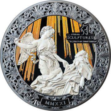 Die Verzückung der Heiligen Theresa 5 Unzen Silber