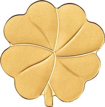 Vierblättriges Kleeblatt Gold