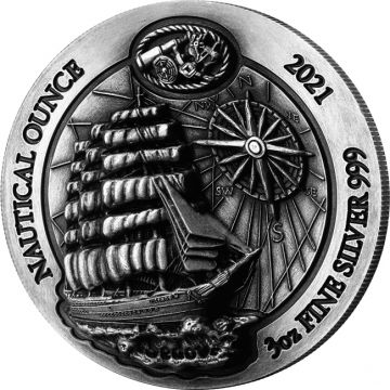 100 Jahre Sedov 3 Unzen Silber High Relief Antik