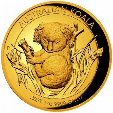 Koala High Relief 1 Unze Gold